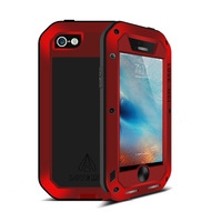 Love Mei For iPhone 5S Case Luxury Aluminum+Silicone Back Shockproof Protective i Phone Case For iPhone 5 5SE Case Cover Fundas
