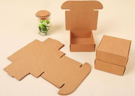 DHL 5.5*5.5*2.5cm Mini Brown Kraft Paper Snack Box Handmade Soap Business Card Gift Party Jewelry Cosmetic Packaging Pack Boxes