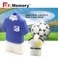 2016 usb flash drive jogador de futebol pendrive de 64 GB 8G 16G 32G T-shirt moda disco flash u disk pen drive quente Eurocup mundo copo