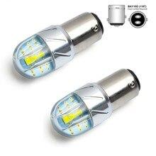 Auokey 2 PCS Branco 1157 BA15D 1141 1003 3030 6SMD Lâmpada Led para Luzes de Freio Luzes Traseiras