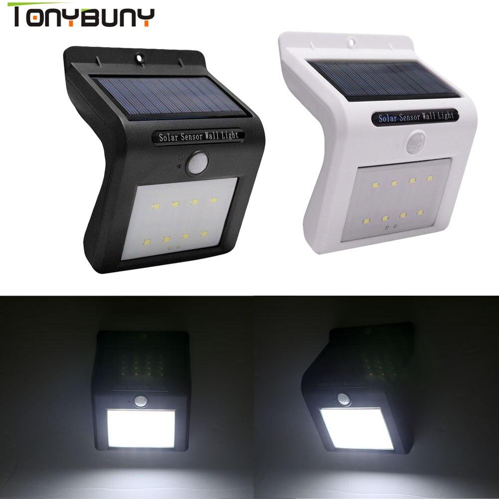 Modern Design LED Solar Power PIR Motion Sensor Wall Light LED Outdoor Energy Saving Street Yard Path Home Garden Security Lamp