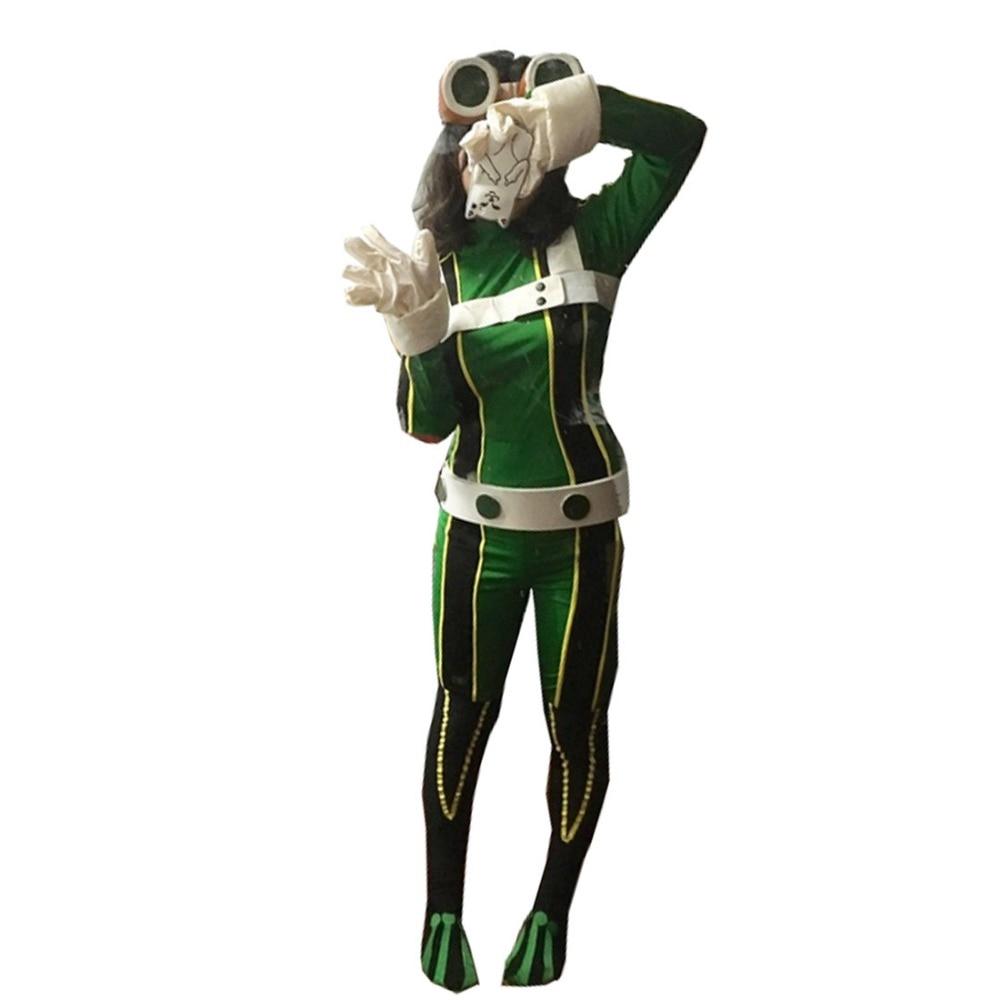 2019My Hero Academia Froppy cosplay Boku no Hero Akademia Tsuyu Asui Cosplay Costume frog hero costume Halloween Cosplay Costume