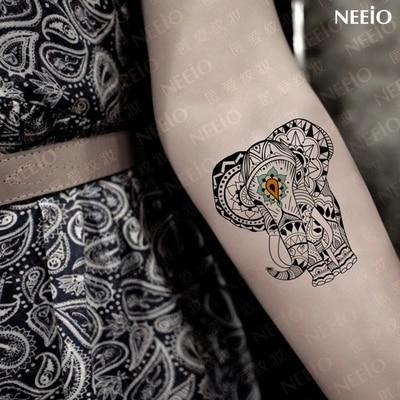 Ani058 Neeio Lovers Mysterious Elephant Totem Tattoo Henna Tattoos