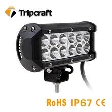 TRIPCRAFT 36 w LED LIGHT BAR PONTO FLOOD BOCA CAR WORKLIGHT para offroad barco caminhão auto ramp 4×4 4wd 6500 k luz de nevoeiro 12 V 24 V IP67