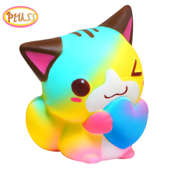 Squishes slow rising squishi kawaii squishy for child squeeze animals squish squishies stress relief squishy cat squish slow rising kawaii ice cream peach toys for kid squishy slow rising soft animal squeeze toy squishy children anti stress
