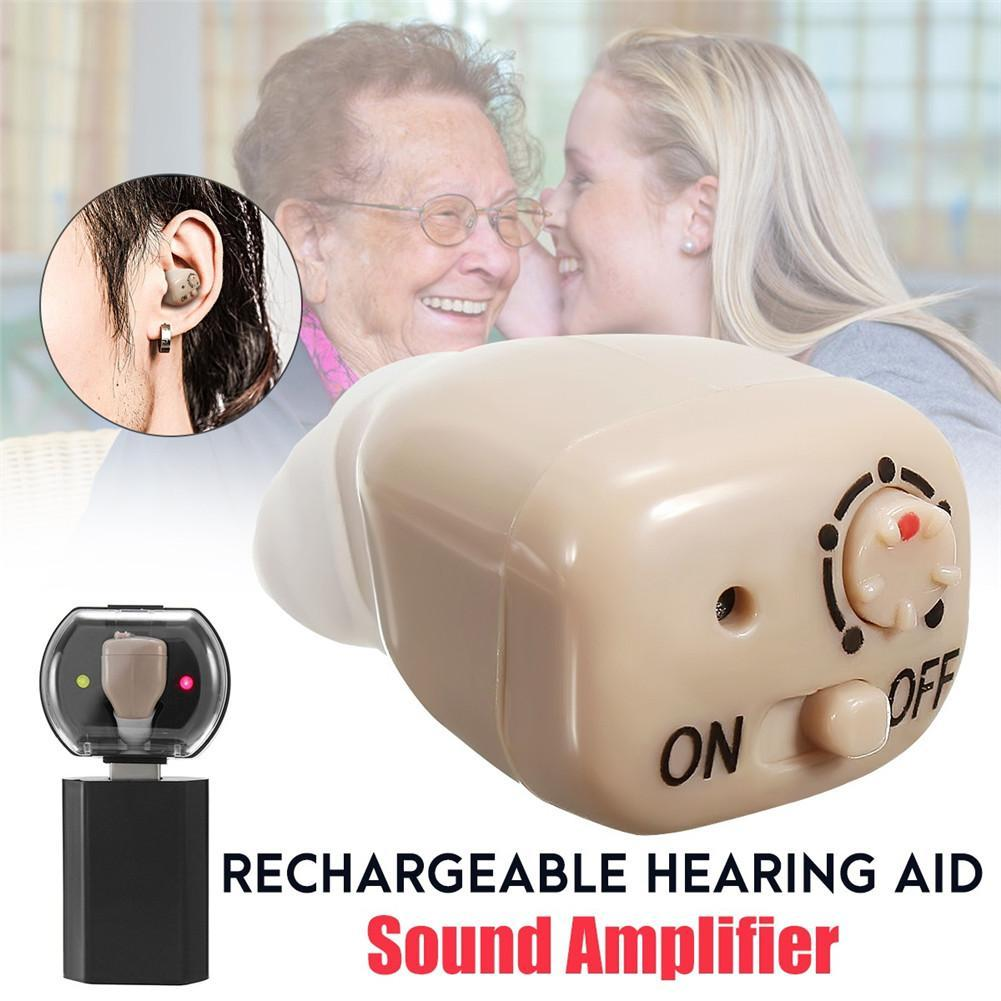 Rechargeable Hearing Aid for The Elderly / Hearing Loss Sound Amplifier Ear Care Tools EU/US Adjustable Hearing Aid Machine 5pcs lot axon b 63 analogue bte hearing aid personal sound amplifier ear care tools for severe hearing loss