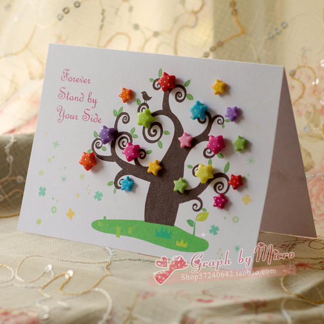 Free Shipping Handmade Greeting Card Three dimensional High – Birthday Card Personalized Free