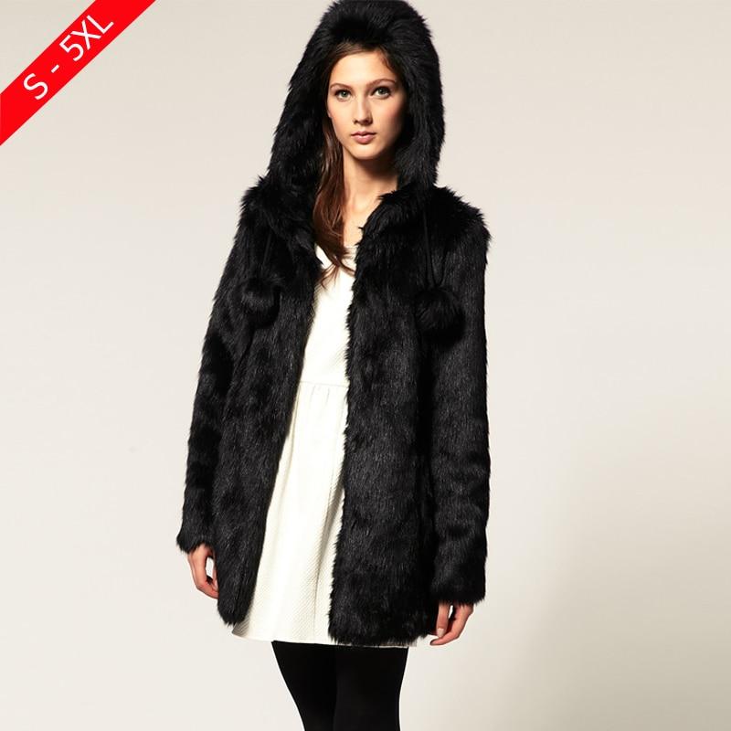 Manteau fausse fourrure femme pas cher