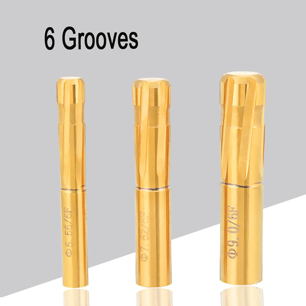 5.56//7.62//9.0mm 6Flutes Spiral Reamer Push Rifling Button Chamber Helical tools