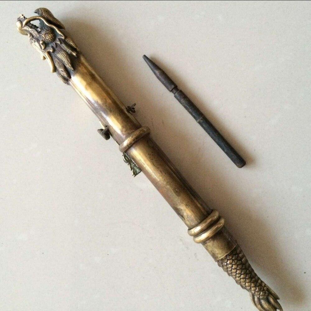 Starożytny chiński brązowy smok miecz ukryte w mankiecie, ukryta broń w Figurki i miniatury od Dom i ogród na  Grupa 1