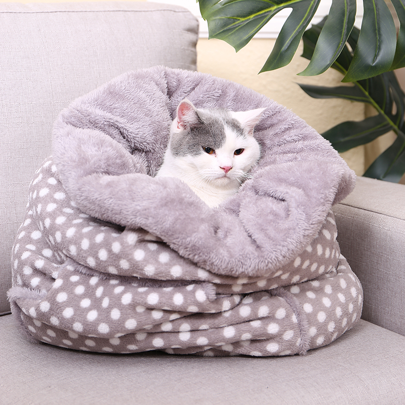 Pet Dog Cat Sleeping Bags Lovely Cat Dog Cozy Beds Super Warm Cushion Mat Rabbit Kitten Puppy Bed Multiple Function Pet Supplies