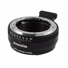 Commlite Lens Mount Adapter w/ Aperture Dial for Nikon F AF-S G Lens to Sony E NEX Camera A7 A7R A7RII A7SII A6300 A6000 NEX-7