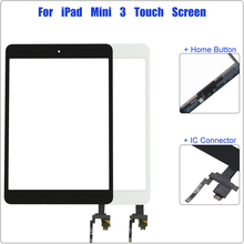 Touch Screen for iPad Mini 3 3rd Gen A1599 A1600 A1601 Digitizer Sensor Panel Front Glass Replacement With IC Cable Home Button