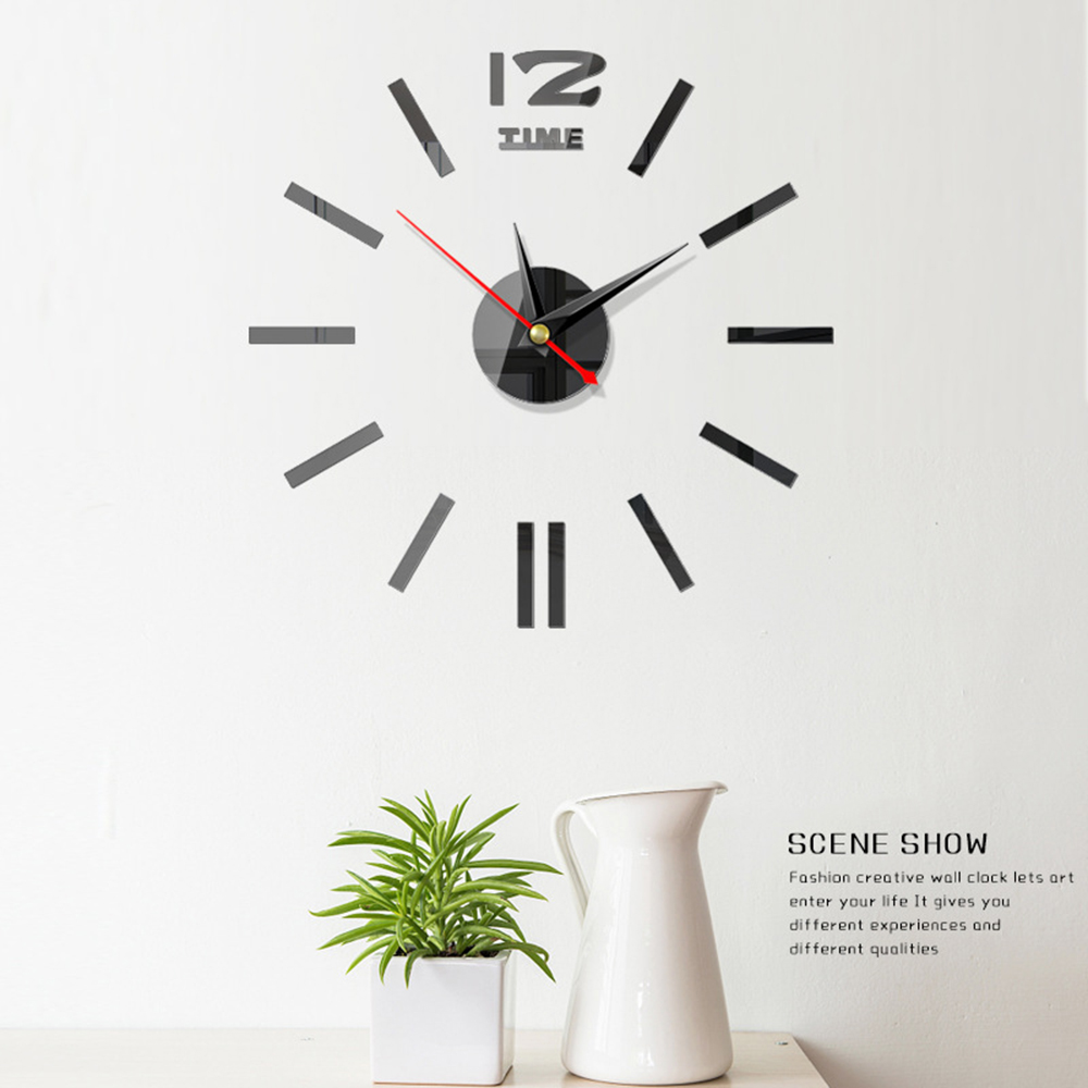 DIY Modern Clock Watch Wall Clocks 3d Acrylic Mirror Stickers Home Decoration Living Room Quartz Needle