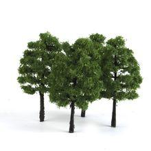 20 шт Модель деревья искусственное дерево поезд железнодорожная дорога пейзаж архитектура дерево 1:100