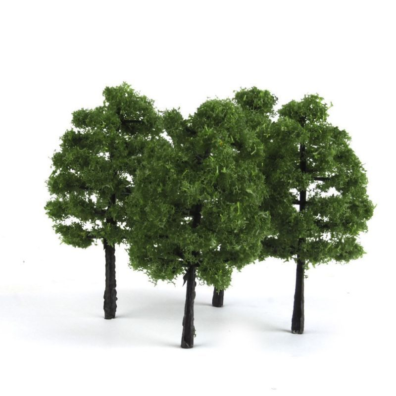 20pcs Model Trees Artificial Tree Train Railroad Scenery Architecture Tree 1:100