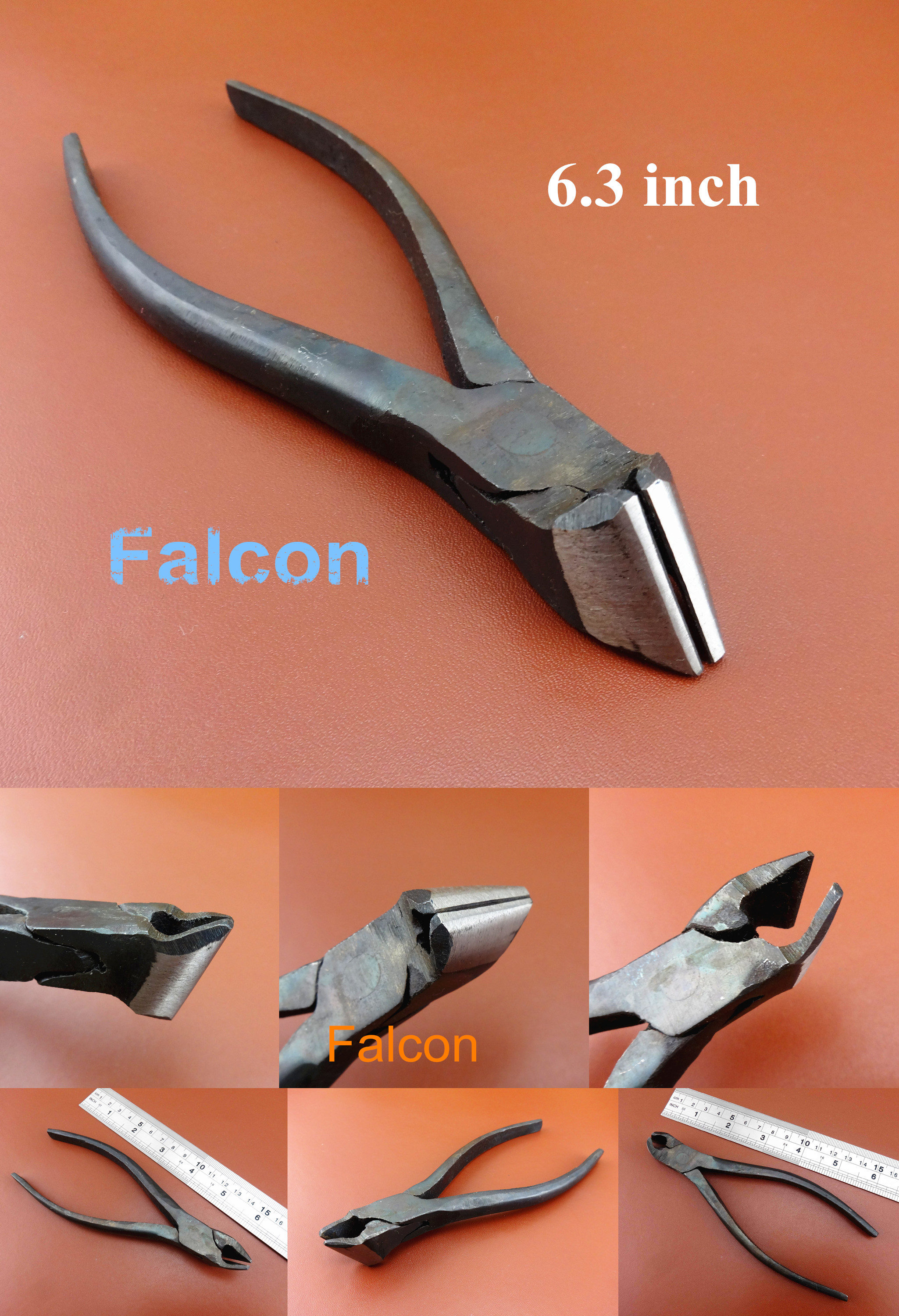 """6/"""" Leather Craft Shoemaker Cobbler Metal  End Cutting Pliers Pincers Cutter Tool"""