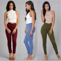 High Waist Elastic Pants Women Hot Sale American Apparel Skinny Pencil  Pants Fashion Pantalones Vaqueros Mujer