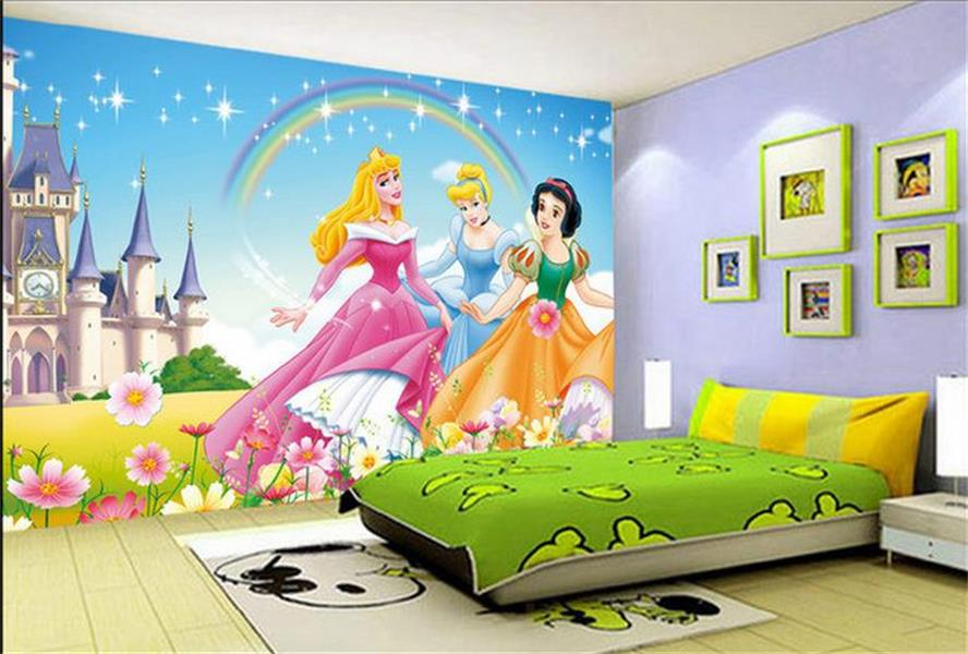 Online get cheap princess entertainment for Mural kids room