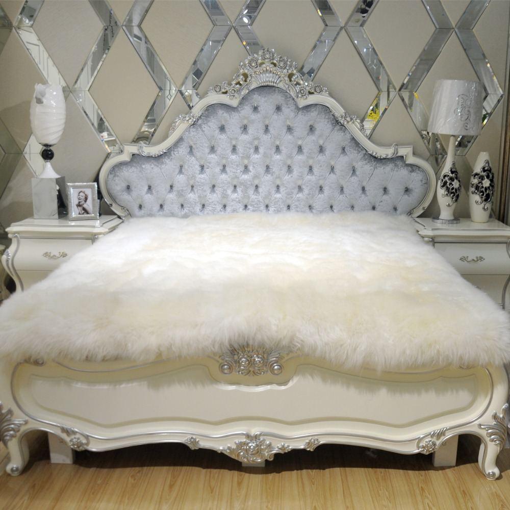 Online Shop 100%fur sheepskin mattress bed fur blanket bed cover ... for Sheep Fur Blanket  588gtk