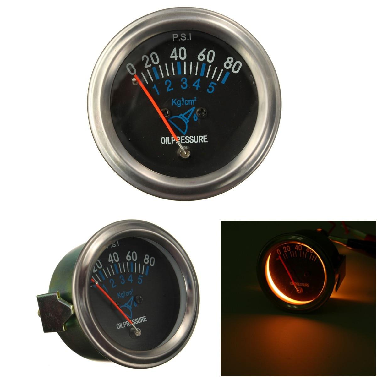 52mm 12v Mechanical Fuel Oil Pressure Gauge Automotive Car Black Cluster Circuit Board Cb1 Face 080 Psi