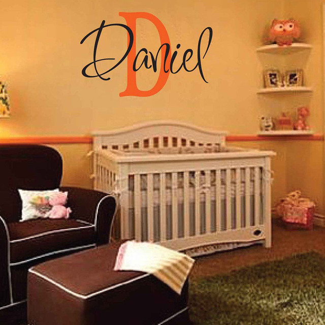Daniel wall decal personalized room childrens wall art custom name vinyl wall sticker for kids room