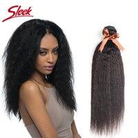 Sleek Remy Natural Hair Bundles Deal Peruvian Yaki Straight Human Hair 10 24 inches Bundles Weave Hair Extension