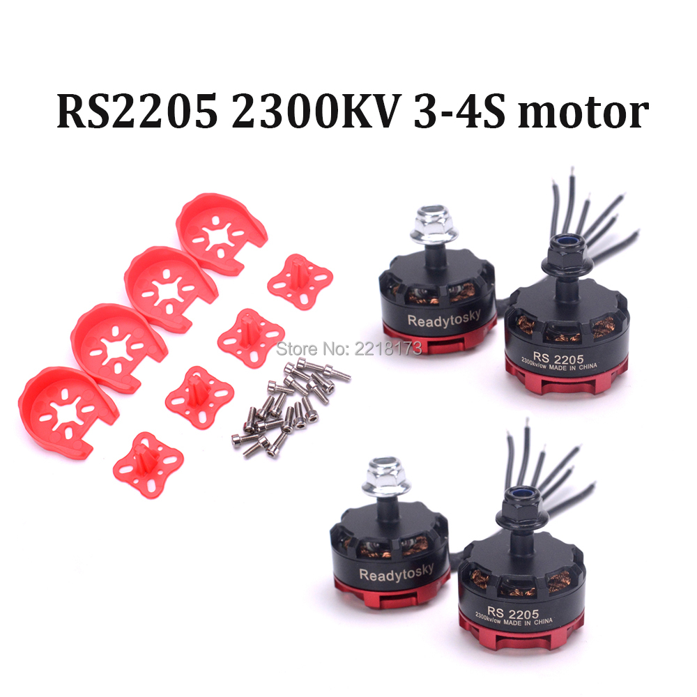 US $23 89 30% OFF 4pcs RS2205 RS 2205 2300kv Brushless Motor For Floss 210  215 Martian IV 220 Nova 235mm Quadcopter frame-in Parts & Accessories from