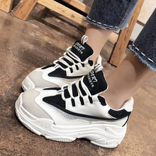 women shoes 2019 spring fashion vintage women sneakers breathable platform casual dad shoes women black white chunky sneakers