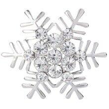 BELLA Christmas Gift Gold Silver Plated Clear Winter Snowflake Rhinestone Brooch Pins Big Austrian Crystal Brooch