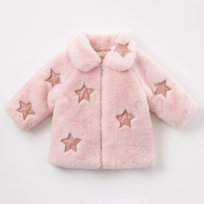 2018 Winter Girls Faux Fur Coat Baby Girls Rabbit Fur Jackets For Girls Warm Coat Thick Girl Fur Coat Children Outerwear Clothes цена