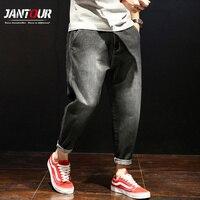 2018 Men's Loose Jeans Fashion Trend Summer High Quality Fat Harem Denim Pants Casual Bussiness Men black Trousers Big Plus Size