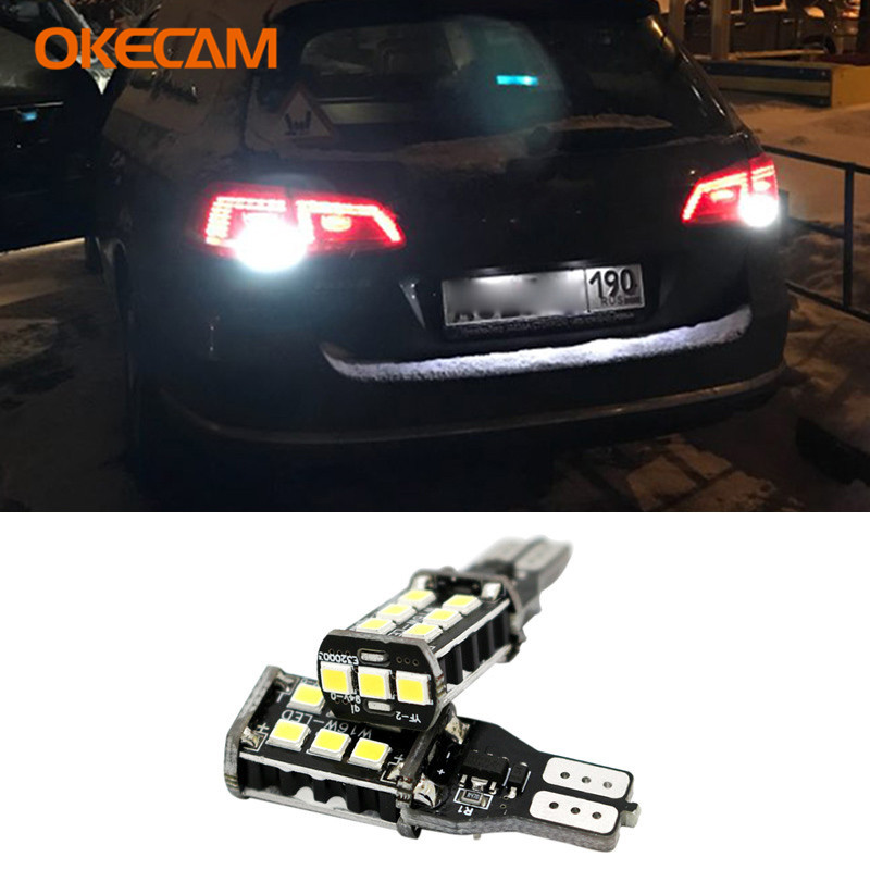 Canbus T15 W16W 921 15SMD LED 2835 Car Reverse <font><b>Light</b></font> for <font><b>VW</b></font> Polo Golf 4 7 5 6 3 Passat B5 B6 B7 Beetle T5 Touran Bora <font><b>T4</b></font> Touareg image