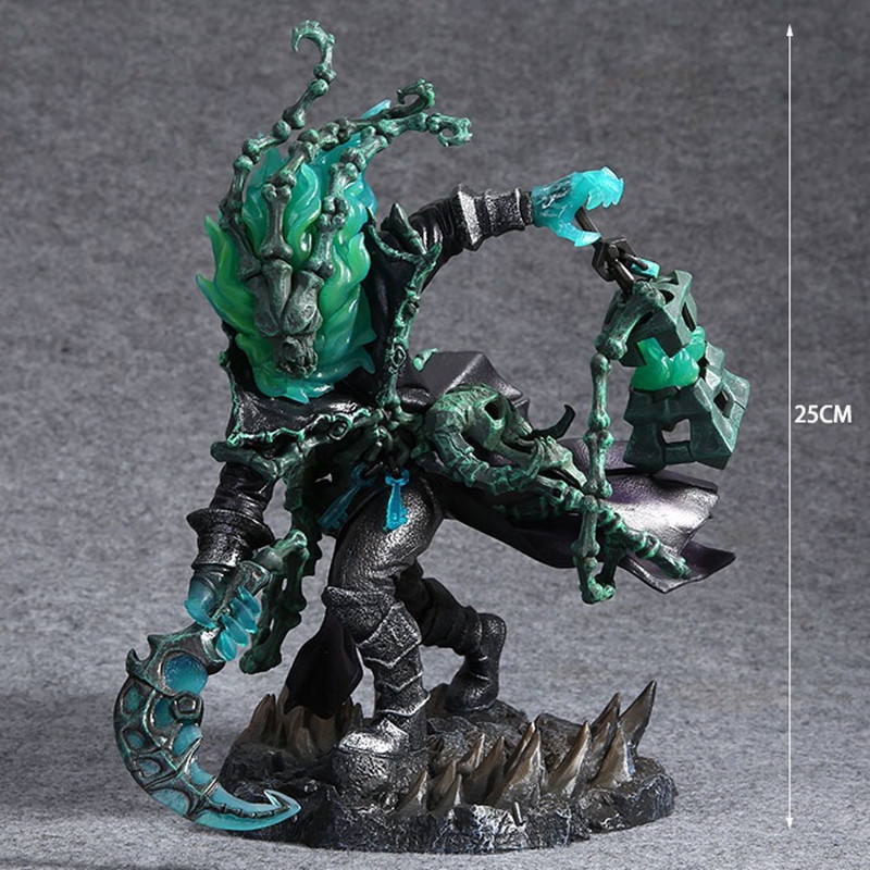 Hot Game Figure Chain Warden Thresh Gank 25 CM PVC Action Figure Juguetes Figuras Anime Brinquedos Model Doll Kids Toys Gift van den hul hdmi flat 180 5 0m
