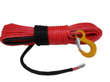 8mm*30m 12 strand synthetic winch rope with sleeve and thimble for ATV/UTV/SUV/4X4/4WD,winch cable for towing