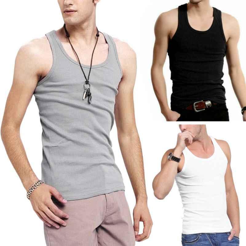 2019 nowe letnie koszulki bez rękawów t-shirty do ćwiczeń w męskich koszulkach sportowych dla mężczyzn
