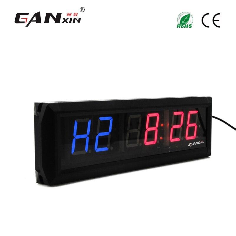 [Ganxin] 1,8 алюминиевый сплав современные настенные часы светодиодный Crossfit таймер Тренажерный Зал Таймер с дистанционным Управление обратног