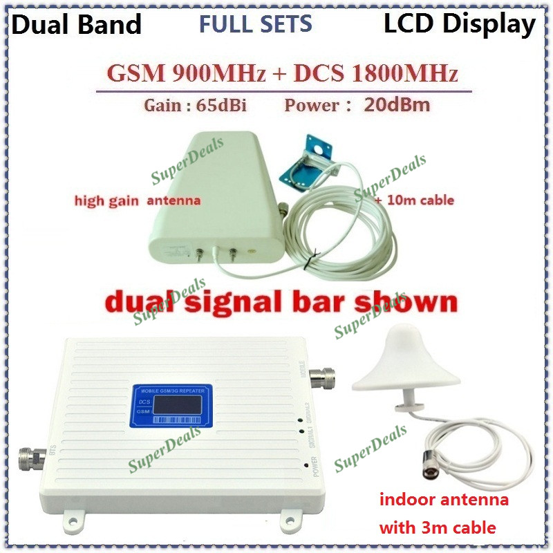 High Power GSM Repater DCS Lte 4g Cellular Signal Booster 2G 900mhz DCS 1800mhz Mobile Phone Signal Repeater Amplifier Celular