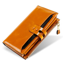 KEVIN YUN fashion genuine leather women wallets long large capacity hasp zipper card holder wallet purse oil cowhide перфоратор long yun