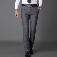 Custom Made Men Dress Pants Fit Flat Zipper Fly Cotton Brand Mens Solid Business Formal Business