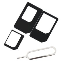 10Pcs New 4 in 1 Good Quality Universal SIM Card Adapter Kit For iPhone 4 5 for