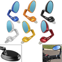 Universal Motorcycle Bar End Side Rearview Mirror Motorbike Bike Handlebar Rear View Mirrors FOR HONDA msx 125 YAMAHA BMW cb1000