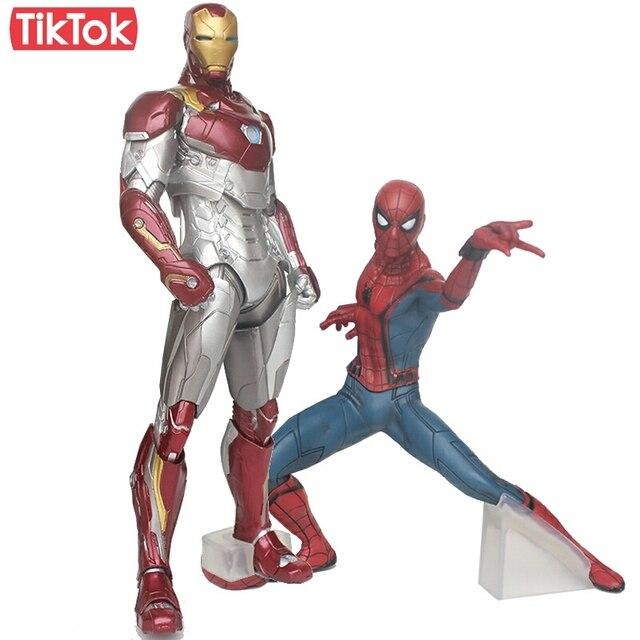 Filme Homem Aranha Homem De Ferro Homem Aranha MK47 do Regresso A Casa Dos Desenhos Animados Toy Action Figure Modelo Boneca de Presente
