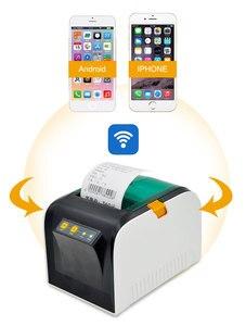 "Image 4 - גבוהה באיכות תרמית bluetooth Qr מדפסת Qr קוד בגדי תווית מדפסת 20 80 מ""מ מדבקת מדפסת"