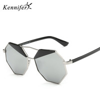 Kennifer Brand Designer Personality Women S Polarized Sunglasses For Women Sun Glasses Vintage Unique Hexagon Gafas