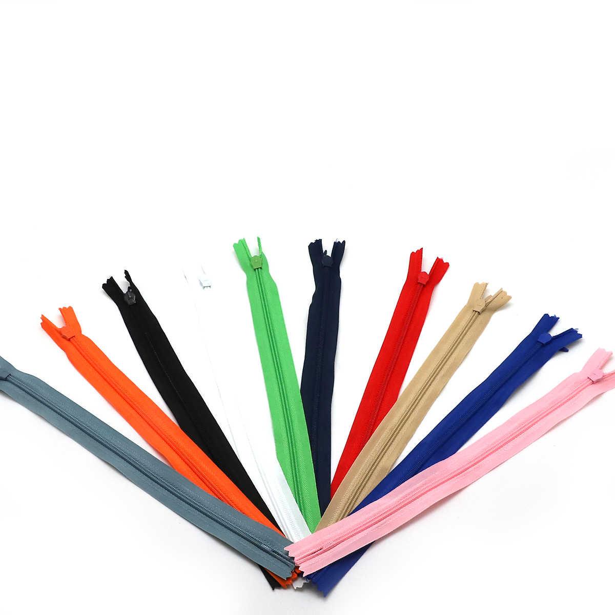 10 шт./пакет 28 см 35 см 40 см 50 см 55 60 см в длину змейки-невидимки DIY нейлоновая застежка-молния для пошива одежды аксессуар