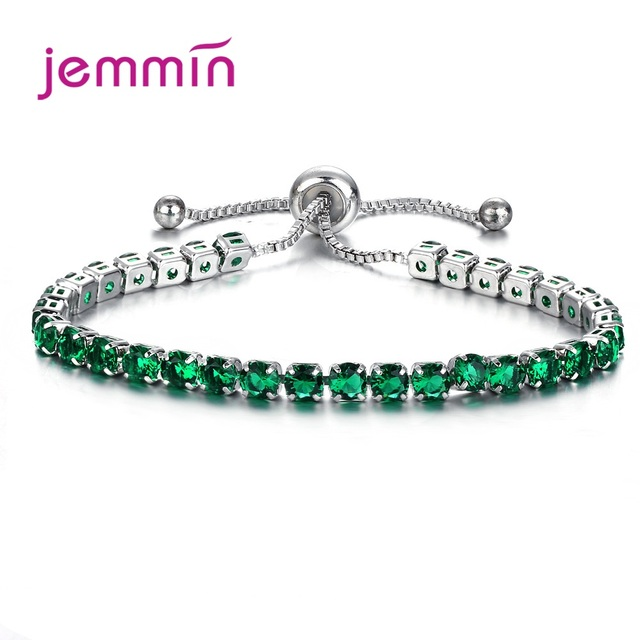 Fashion Jewelry Shiny 925 Sterling Silver Bracelet Bangles Pave Full 3A+ Grade Cubic Zirconia Crystal Bright Wedding Party 1