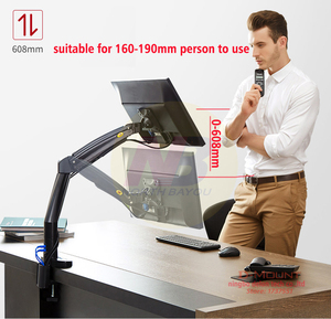Image 3 - NB F100A Gas Spring Arm 22 35 inch Screen Monitor Holder 360 Rotate Tilt Swivel Desktop Monitor Mount Arm with Two USB3.0 Ports