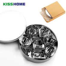 24pc/set Cooking Tool Heart Shape Biscuit Flower Square Star Cookie Cutters Biscuits Mold