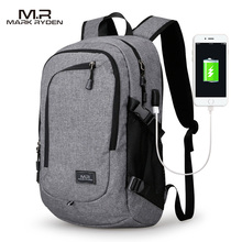 MR Computer Laptop Backpack for 15 16 inches USB Charging Men s Large Capacity Travel Bag